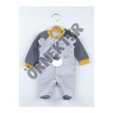 Sarı Kışlık Ayıcık Figürlü Erkek Bebek Tulum